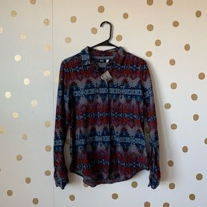 NWT Urban Outfitters BDG Tribal Print Button Down